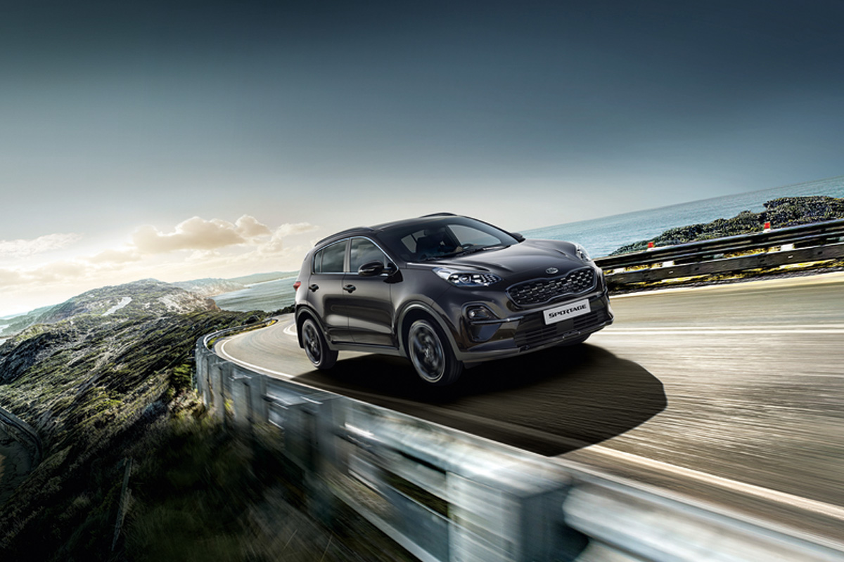 Kia Sportage Black Edition außen dynamisch