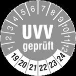 UVV Prüfplakette